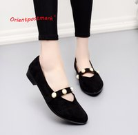 Wholesale pink leather ballet flats online - Designer Dress Shoes Orientpostmark Women s Office Women Women Wedges Sweet Loafers Slip On Cloth Work For Rest Boat Ballet