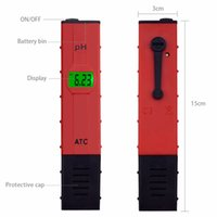 medidor de ph 14 venda por atacado-Medidor de pH digital 0-14 Piscina do tipo caneta Testador de pH de aquário Analisador de pureza da água potável Papel do solo Medidor de ph 0,01 Precisão