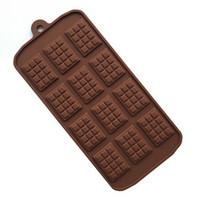 molde de barras de chocolate venda por atacado-12 mesmo molde de chocolate molde de silicone fondant moldes diy candy bar molde ferramentas de decoração do bolo de cozinha acessórios de cozimento