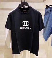 camisetas de cultivo al por mayor-Diseñadores de mujeres GIV Camiseta Verano Sólido Negro Blanco Camiseta Mujer Camiseta Crop Tops Tamaño S-XL