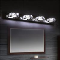 mueble de baño ligero al por mayor-Cuarto de baño moderno Espejo de cristal de la lámpara de luz espejo de cortesía dormitorio luz LED de pared Gabinete pared del pasillo AC85-265V iluminación de la lámpara del aplique