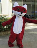 fantasias de raposa vermelha venda por atacado-Nova Red fox Mascot Costume Adulto Tamanho red fox Mascotes Xmas Party Dress Cospay Aniversário Bem-vindo Mascotes