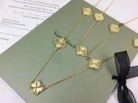 colares pingente de bronze venda por atacado-88 CM de comprimento New arrival Brass e marca colar com flor em 10 pcs pingente colver flores para mulheres presente da jóia do casamento da gota navio