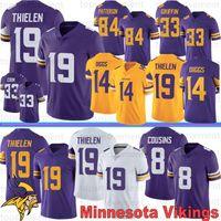 84 forması toptan satış-Minnesota Formalar 19 Adam Thielen Viking 14 Stefon Diggs 8 Kirk Cousins 55 Anthony Barr 84 Randy Moss 22 Harrison Smith Dalvin'ın 33 Cook Stok