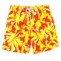 boxers jaunes pour hommes achat en gros de-jaune été marque tortue hommes imprimés plage Beach Shorts bermudas mens maillots de bain shorts de sport à séchage rapide boxer trunks shorts maillots de bain