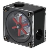 indicador de flujo al por mayor-G1 / 4 Puerto 3 Impulsor Pom Acrílico Medidor de flujo de agua Indicador del medidor de corriente Enfriador de agua para computadora Sistema de enfriamiento de PC