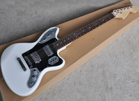 Factory Wholesale White Electric Guitar with Iron Pickups,Rosewood Fretboard,Black Pickguard,Can be customized as request