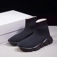 nuevas botas de velocidad al por mayor-New Paris Luxury Sock Shoe Speed Zapatos casuales Zapatillas Speed Trainer Sock Race zapatos de moda para mujer otoño invierno botas Envío Gratis X