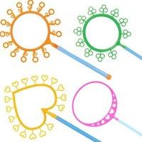 bubble water toys groihandel-Magie Große Blase Ring Blase Zeigen Requisiten Ohne Wasser Große Blase Maker Zauberstab Ringe Kinder Spielzeug Party Favor Geschenk Weihnachten