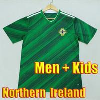 maillot de foot thailande qualité xxl achat en gros de-Top thailand quality 19 20 Northern Ireland soccer jerseys 2020 Northern Ireland football soccer shirt kits men + Kids kit sets uniform