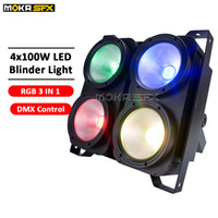 Discount audience blinder lights 4 eyes audience light RGB 3IN1 blinder lights DMX control blinder led in stage lighting effect