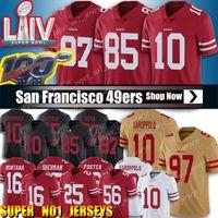 futbol forması 85 toptan satış-10 Jimmy Garoppolo Jersey San Francisco49ers 97 Nick Bosa 85 George Kittle Formalar Futbol 25 Richard Sherman Jersey 80 Jerry Rice