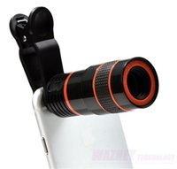 Wholesale optical zoom cell phone camera resale online - 300set X Optical Times Zoom Cell Phone Telescope Camera LENS With Clip For iPhone Samgsung huawei
