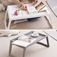 Wholesale laptop stands beds for sale - Group buy BAKINGCHEF Foldable Desk Bed Laptop Table Computer Holder Portable Breakfast Tea Serving Table Stand Home Office Study Supplies