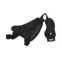 deri dslr fotoğraf makinesi kayışı toptan satış-1 adet El Grip Kamera Askısı PU Deri El Kayışı DSLR için Kamera Kamera Fotoğraf Aksesuarları Için