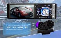 auto audio tft großhandel-12 V 4,1 Zoll Bluetooth HD Digitales Auto FM Radio MP5 Player Mit USB SD AUX Schnittstelle Definition Ein Din TFT Audio Video PlayingKostenloser Versand