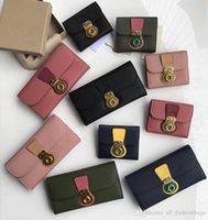 mini banners al por mayor-de alta calidad de cuero genuino partido bolso de lujo del diseñador billetera Milton mochila bolso del mensaje bandera hebilla