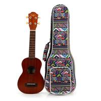 Wholesale carry shoulder bag backpack resale online - Ukulele Ukelele Guitar Soft Waterproof Shoulder Backpack Carry Case Bag With Strap Musical Accessories a11