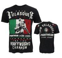 mma fight tops al por mayor-Caín Velásquez manga corta para hombre de la camiseta de entrenamiento Mma Fighting UFC Fight Muay Sanda tailandés Tops 2018 Nueva camiseta ocasional de la camisa modal L ~ 4xl J19052550