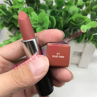 Wholesale orange brown lipstick for sale - Group buy Top quality Color Collection g Matte Lipstick VELVET TEDDY HONEY LOVE BUBBLEGUM RUBY WOO CANDY YUM YUM ANGEL MYTH MOCHA sweet smell