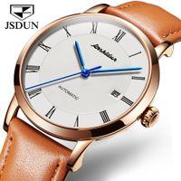 сапфир мужские часы оптовых-JSDUN Mens Watches Top  Sapphire Waterproof Watches Men Automatic Mechanical Wrist Relojes hombre 2019