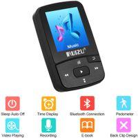 reproductor de video multimedia al por mayor-X50 mini clip Bluetooth Reproductor de MP3 de 8 GB con pantalla táctil de apoyo Equipo de música Jugadores radio FM Ver video E-Libro de reloj podómetro