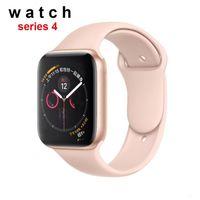 tarifas de acero al por mayor-Regalo de cumpleaños Goophone iwatch 4 44 mm Reloj inteligente serie acero inoxidable 4 Carga inalámbrica ritmo cardíaco para Andoid XR XS Max S10 NOTA9