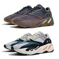 new brand shoes toptan satış-Yeni 700 leylak koşu ayakkabıları mens en kaliteli dalga koşucu 700 Kanye West tasarımcı sneakers bayan 2019 marka çizmeler ile kutu US5-11.5