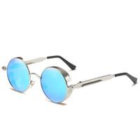 Wholesale stylish cool sunglasses resale online - Cool Stylish Steampunk Sunglasses For Women Men Summer Style Vintage Sun Glasses Round Female Male Eyewear