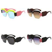 óculos de sol sexy de qualidade venda por atacado-Quadro Mulheres extragrandes Sunglasses Sexy sem aro plástico Sunglass Rosa Preto Azul Óculos de alta qualidade Ultraviolet Proof bardian 12CH D1