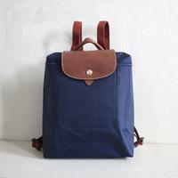 sacos de compras de nylon dobrável venda por atacado-Marca New Backpack Bags escola da forma Folding Nylon Mochilas Mulheres à prova d'água Sacos 8 Design Grande