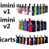 batteries en forme v2 achat en gros de-Authentique Kit Icarts IminiV1 v2 avec cartouches 0.5 / 1.0ml Préchauffez la batterie Mod Fit Liberty v1 v9 v14 ac1003 vs batterie vmod