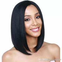 Wholesale wavy synthetic full lace wig for sale - Group buy Women Black Short Wavy Curly High Temperature Fiber Full Wig Lace Wig Hair Synthetic Wig Cosplay Costume
