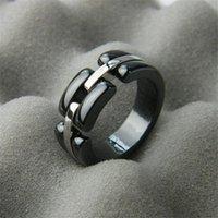 feines paar ring groihandel-Mode-Design Keramik Ringe der Frauen Männer Luxus-Ring Unisex Weiß Schwarz Ringe Hohe Qualität edlen Schmuck Paar Geschenke