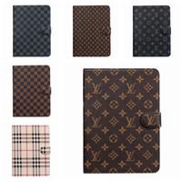 Wholesale ipad purple resale online - For ipad pro Air3 pro10 ipad2 mini1 Designer Luxury Classic Vintage Leather Holder brand ipad Case mini5 mini4 A07