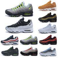ingrosso fucsia numero di scarpe 12-nike air max 95 airmax Scarpe da ginnastica da uomo firmate Laser Fucsia Rosso Orbita Acquedita Aqua Neon Triple Nero Bianco Uomo Sneakers Sport Sneakers Taglia 7-12 KLST63-Y