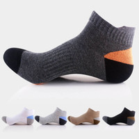 мужские спортивные носки оптовых-5 Pairs Mens Sport Socks Soft Cotton Breathable Crew Quarter Ankle Sock Low Cut Cycling Bowling Camping Running Sock 5 Color
