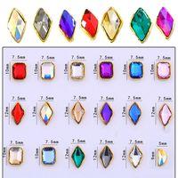 ingrosso je gioielli-Lusso 3D Nail Art Strass (100pz) Diamanti di cristallo lucido per gioielli per fai da te Strumento per nail art Accessori per manicure Charms per unghie JE
