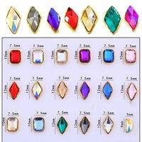jóia je venda por atacado-Luxo 3D Nail Art Rhinestone (100pc) Diamantes de jóias de cristal brilhante para DIY Nail Art Tool Manicure Acessório Encantos de unhas JE