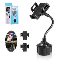 Wholesale gooseneck phone holder for sale – best Car Mount Cup Mobile Cell Phone Holder Universal in Car Cradles Adjustable Gooseneck Compatible Stand for Smartphone With Retail Package