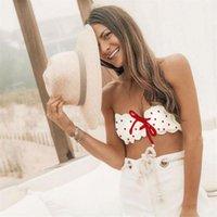 ingrosso swimwears delle donne-2019 Dot Bikini push-up imbottito Swimwears donna Costumi da bagno Beachwear Sexy new Swimswear bagnetto Bandeau Biquini