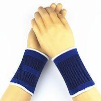 ingrosso guardia del polso da basket-2 pz sport braccialetti sweatband mano fascia sudore supporto per il polso brace avvolge guardie per palestra esercizio pallavolo basket # 311807