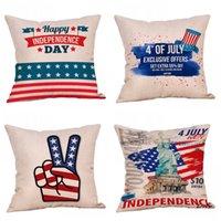 ingrosso cuscino di ordine-America Independence Day Stampa Federa Cuscino Copridivano Cuscino Materiale Lino Guanciale Comfort Più colore Prova 5kx C1