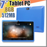 Wholesale android tablets google play resale online - 838 Allwinner A33 Quad Core Q88 Tablet PC Dual Camera quot inch capacitive screen Android MB GB Wifi Google play store flash E PB
