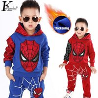 Wholesale child suit for winter for sale - Group buy Children Clothing Winter Autumn Toddler Boys Clothes Sets Spiderman Costume Kids Clothes For Boys Sport Suit Year J190718