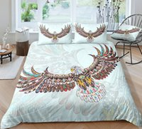 Wholesale king size bedding black blue for sale - Group buy Eagle Print Bedding Set Queen Size Fresh Ethnic D Duvet Cover King Comfortable Twin Full Single Double Bed Cover with Pillowcase
