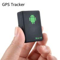 car gps security 도매-미니 A8 GPS 트래커 SOS 버튼 글로벌 실시간 GSM / GPRS 보안 자동 추적 장치 로커 자동차 엘 더 애완 동물 HHA223