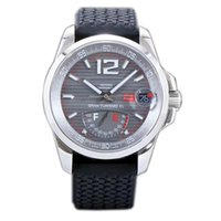 Wholesale luxury watches miglia online - Best Edition Miglia GT XL Steel Case Real Power Reserve Gray Dial ETA A2824 Automatic Mens Watch Black Rubber Strap New FK c03