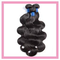 28 saç atkısı toptan satış-Malezya Virgin İnsan Saç 3 Paketler Vücut Dalga Çift Atkı Doğal Renk Ucuz 3 Adet / grup Saç Ürünleri 8-30