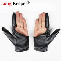 Wholesale half finger gloves for women resale online - 1 Fitness Gloves For Women Men Dance leather Gloves Semi fingerless Luvas Half finger Party Fitness for Women G